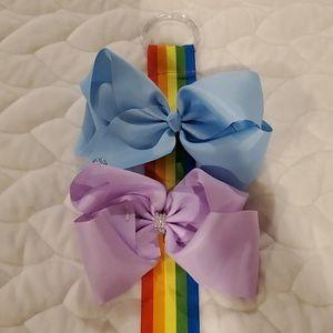 Jojo Siwa bow holder & 2 bows